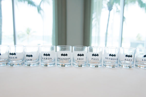 Groomsmen glasses. msweddingplanner