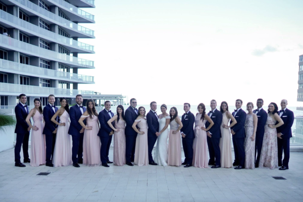 W hotel ft Lauderdale wedding party