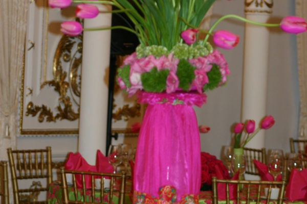 pink tulips at maralago